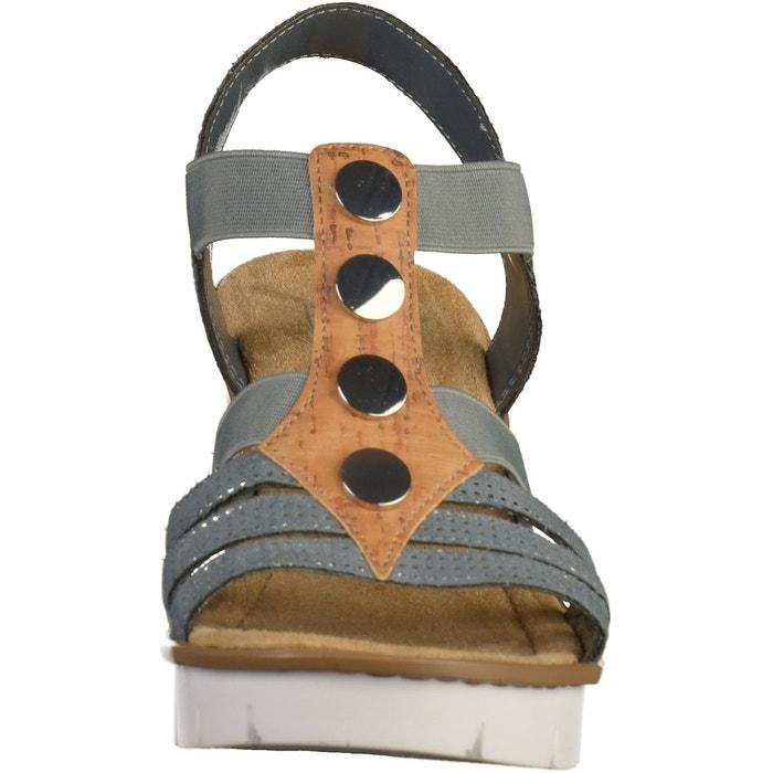 Sandales bleu Rieker