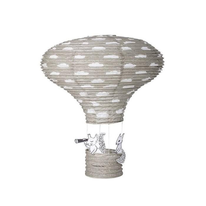 abat jour chambre fille Abat-jour suspension lanterne chambre enfant en papier gris gris  Bloomingville | La Redoute