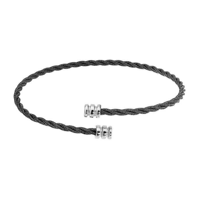 Bracelet en argent 925/1000 noir noir Cleor | La Redoute Très À Vendre Pas Cher Grande Vente Manchester Pas Cher Excellente blMs2g5U