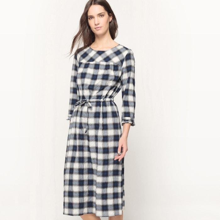 Image Robe longue à carreaux, cintrée La Redoute Collections