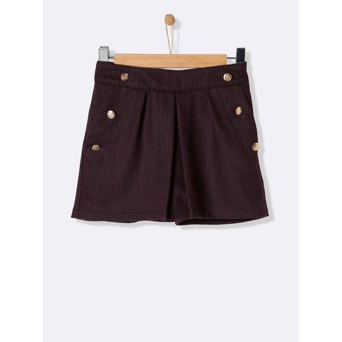 Jupe-short en lainage fille