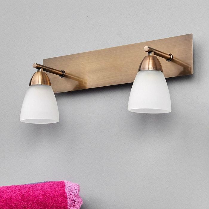 applique pour salle de bains nikla deux lampes blanc. Black Bedroom Furniture Sets. Home Design Ideas