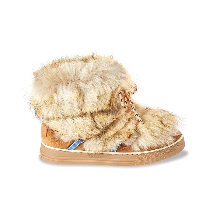 boots fourr es calypso camel les tropeziennes par m belarbi la redoute. Black Bedroom Furniture Sets. Home Design Ideas