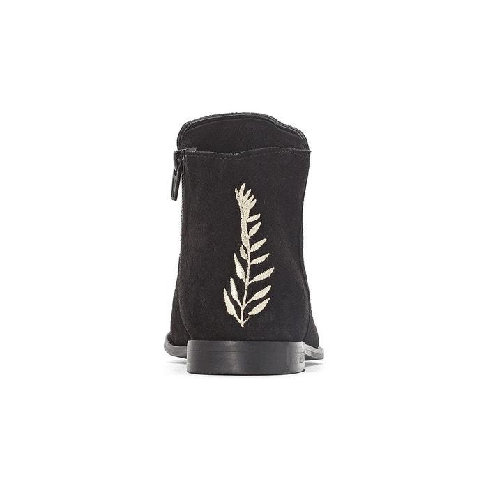 Boots cuir noir La Redoute Collections