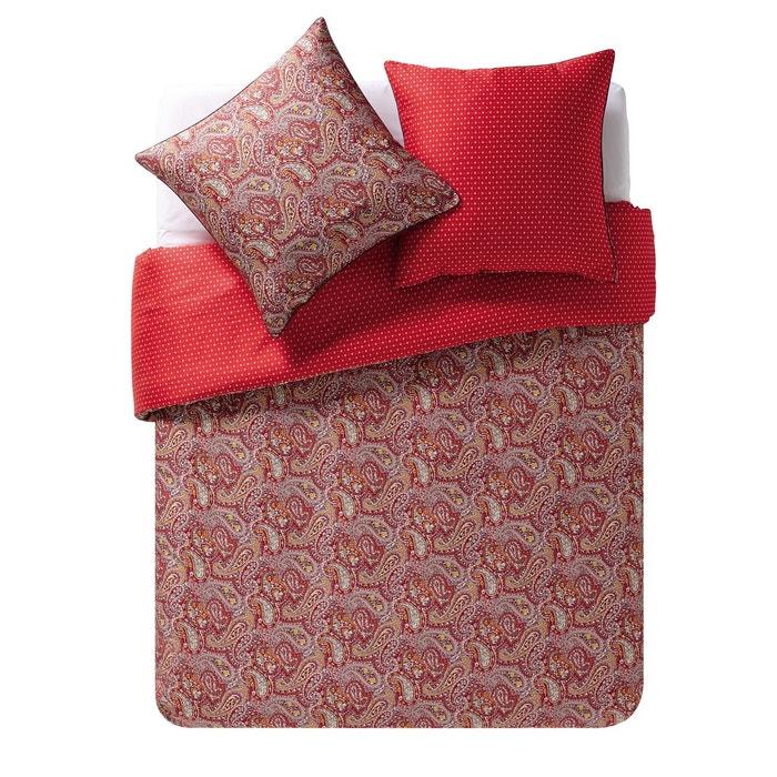 drap plat en satin de coton idole carmin carmin essix la redoute. Black Bedroom Furniture Sets. Home Design Ideas