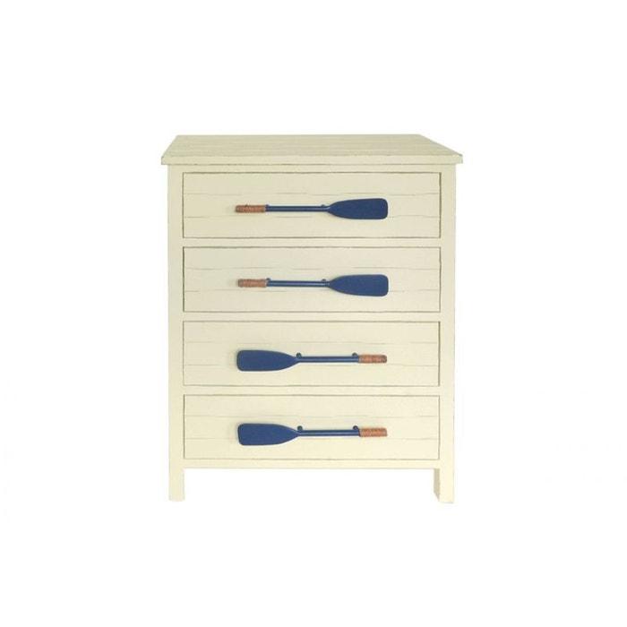 confiturier chiffonnier en bois beige clair 4 tiroirs avec poign es en forme de rames de bateaux. Black Bedroom Furniture Sets. Home Design Ideas
