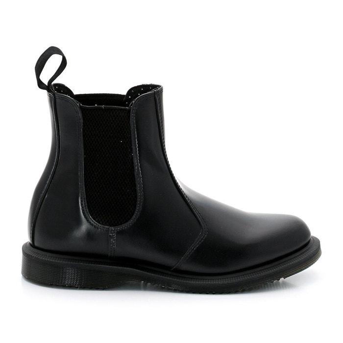 Boots cuir chelsea flora  noir Dr Martens  La Redoute