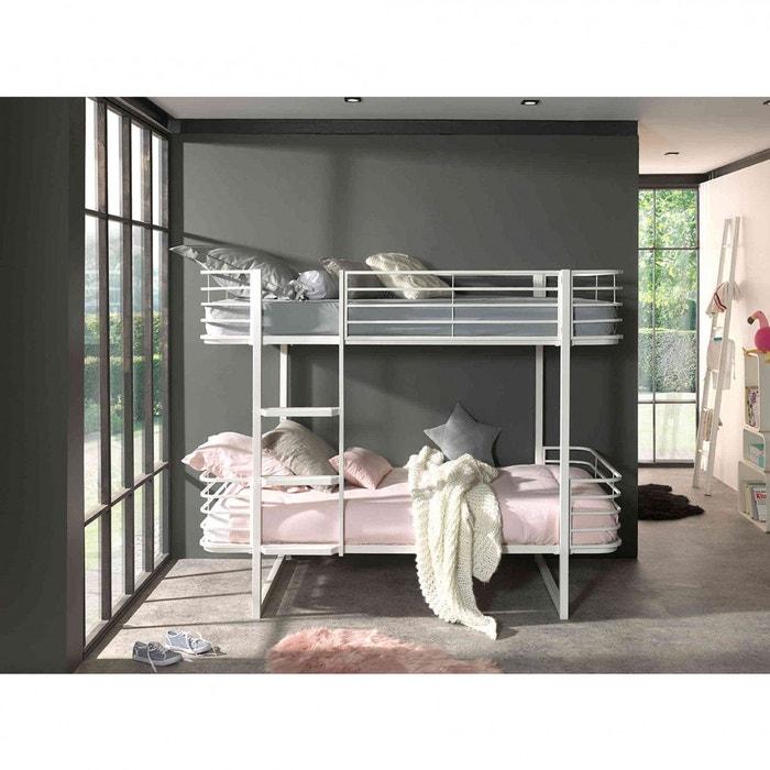lit superpos en m tal terre de nuit la redoute. Black Bedroom Furniture Sets. Home Design Ideas