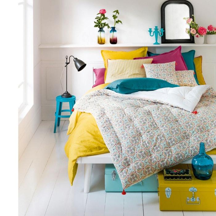 housse de coussin ou d 39 oreiller en percale rosace la redoute interieurs la redoute. Black Bedroom Furniture Sets. Home Design Ideas
