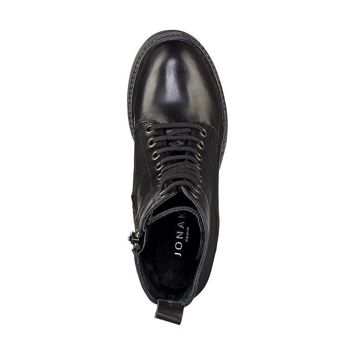Boots cuir noir Jonak