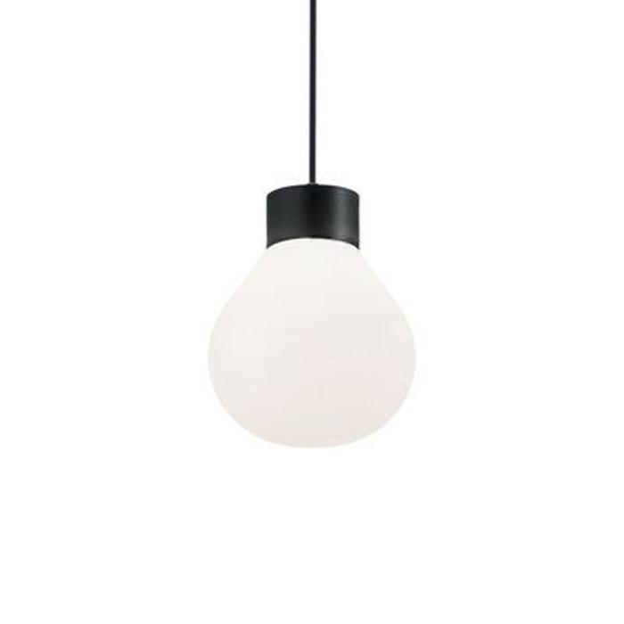 suspension ext rieure clio noir 1x60w ideal lux 149936 boutica design la redoute. Black Bedroom Furniture Sets. Home Design Ideas