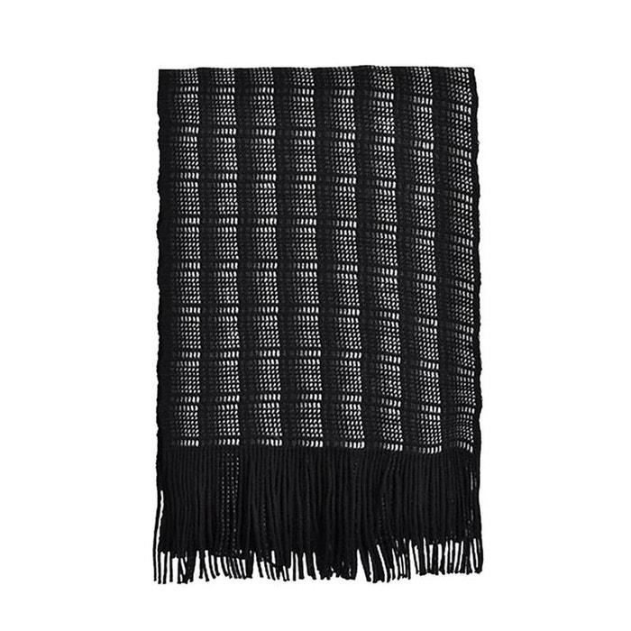 Echarpe en laine fabriquée en france, modèle prince de galles Toutacoo | La Redoute