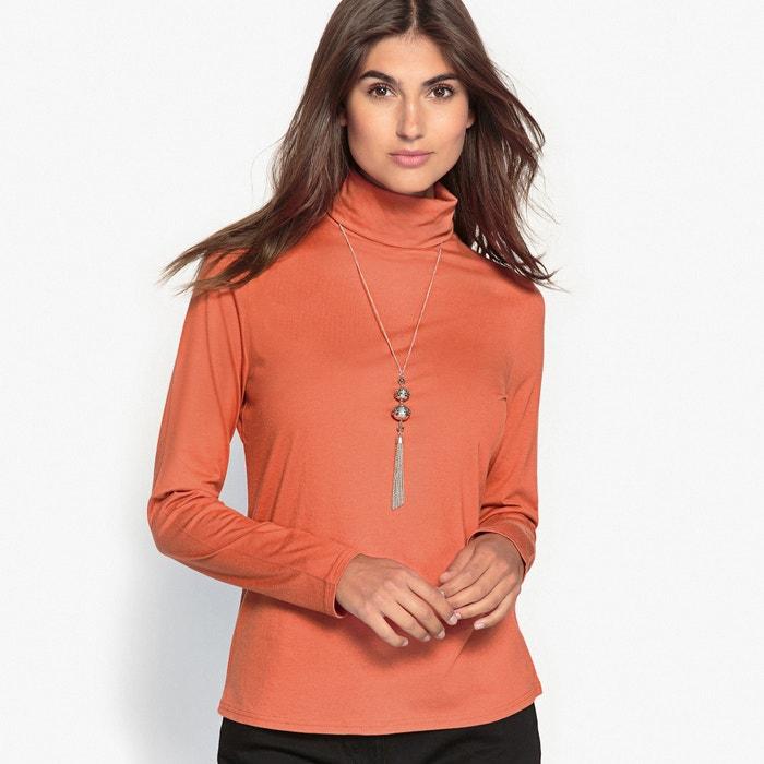 Imagen de Camiseta con cuello vuelto de algodón y modal ANNE WEYBURN