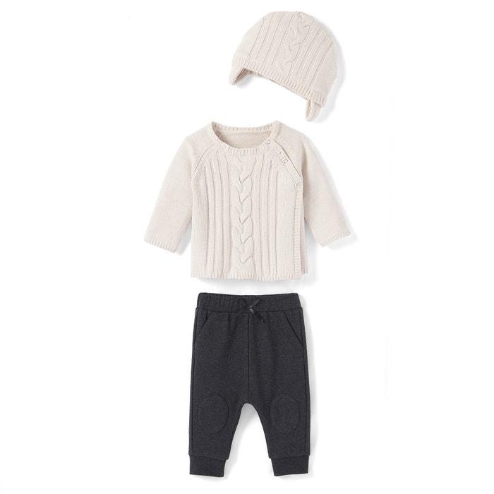 Completo bébé scollo rotondo, maniche lunghe Oeko Tex  La Redoute Collections image 0