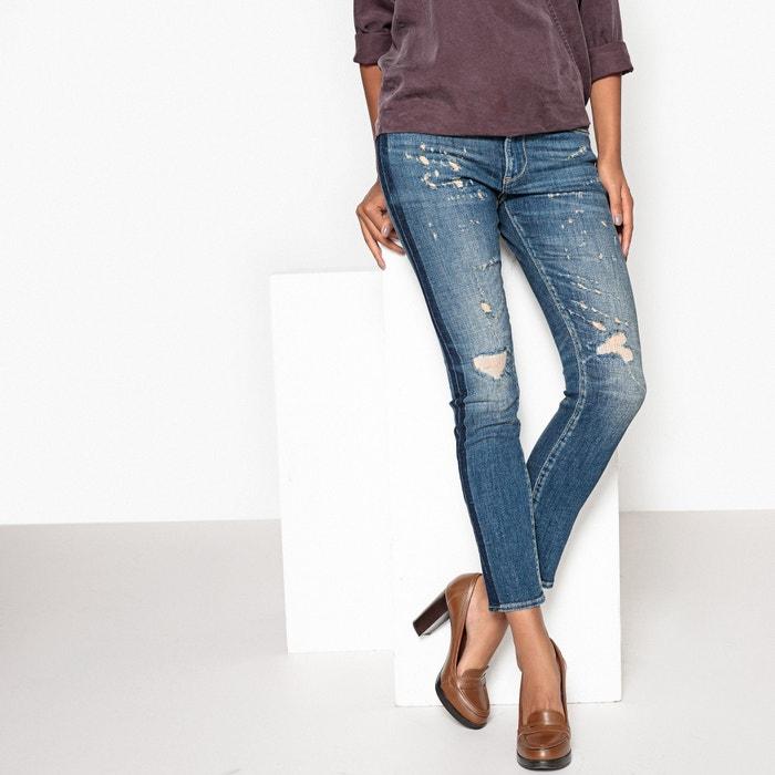 Distressed Jeans with Side Stripe  LE TEMPS DES CERISES image 0