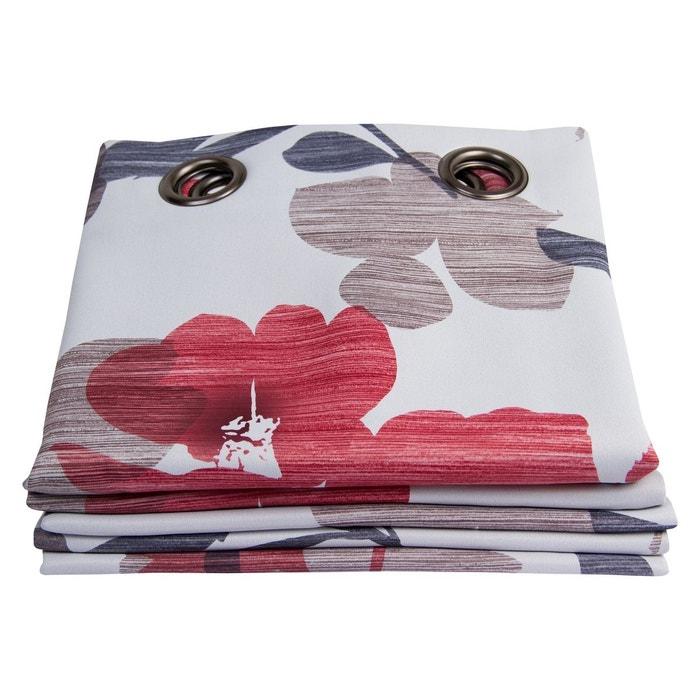 rideau occultant flora rouge moondream la redoute. Black Bedroom Furniture Sets. Home Design Ideas