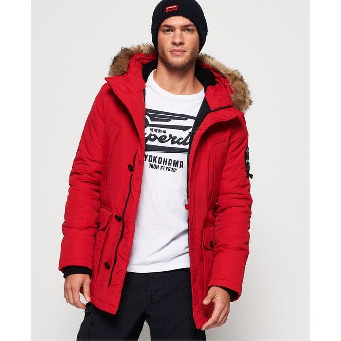La Superdry Rouge Everest Capuche Redoute Parka À Longue v7qY76Z