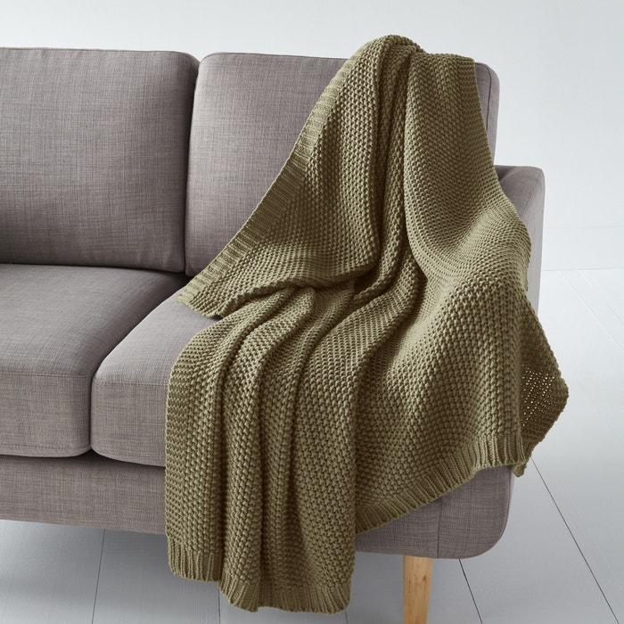 plaid in maglia westport kaki la redoute interieurs la redoute. Black Bedroom Furniture Sets. Home Design Ideas
