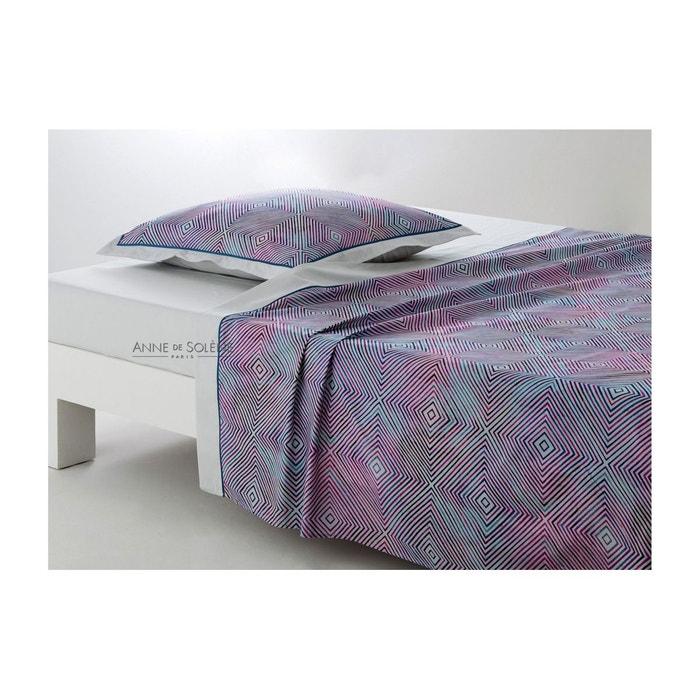 drap plat graphic blanc anne de solene la redoute. Black Bedroom Furniture Sets. Home Design Ideas