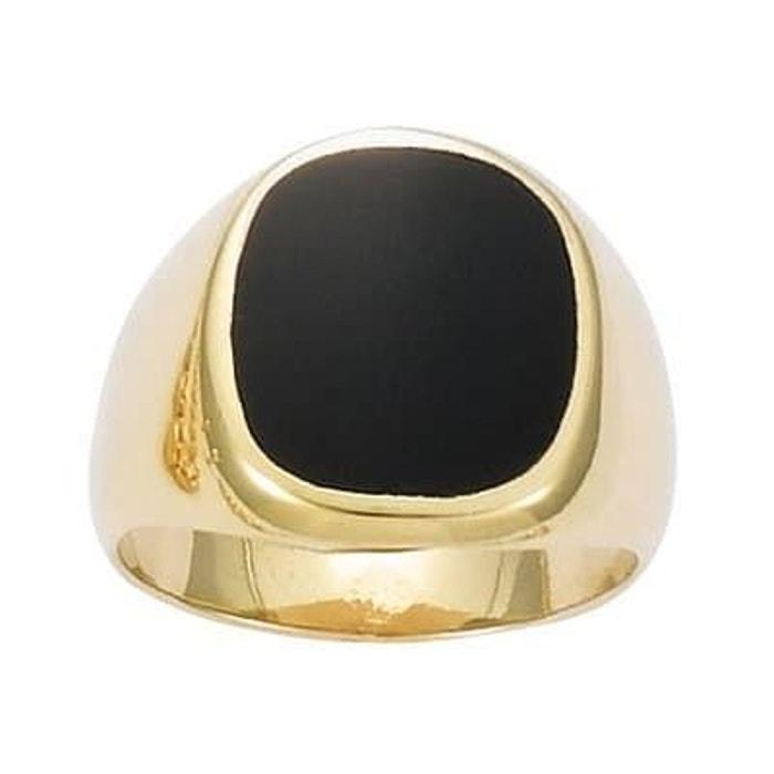 Chevalière onyx plaqué or 750 couleur unique So Chic Bijoux | La Redoute Le Moins Cher N7dlgF