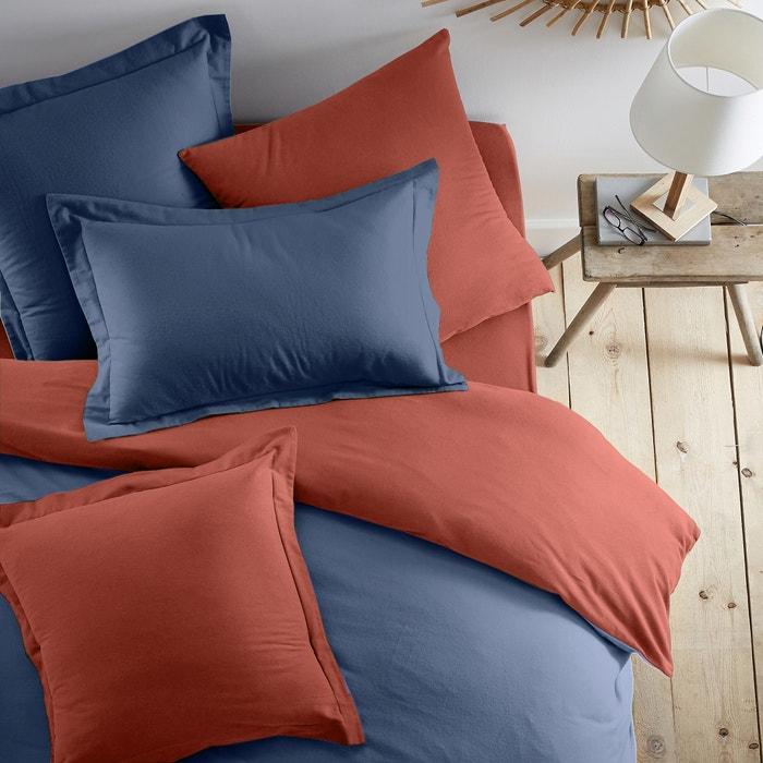 Two-Tone 100% Cotton Flannel Pillowcase  La Redoute Interieurs image 0