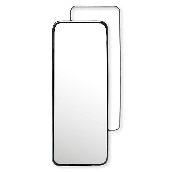Miroir rectangulaire en m tal couleur argent 51x24cm for Miroir rectangulaire argent