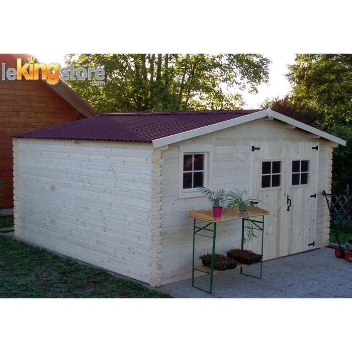 abri de jardin en bois m balta 28 mm l 400 x p 400. Black Bedroom Furniture Sets. Home Design Ideas