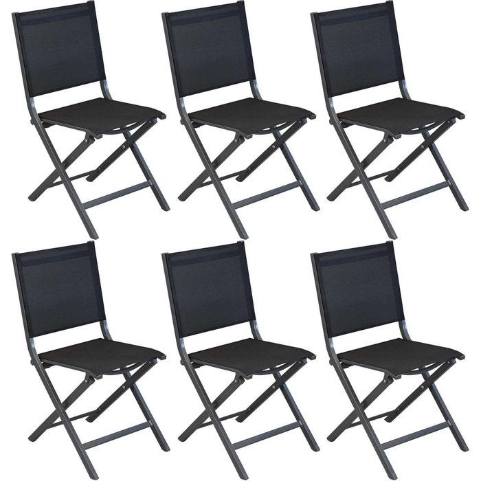 Chaises Pliantes En Aluminium Thema Lot De 6 PROLOISIRS Image 0