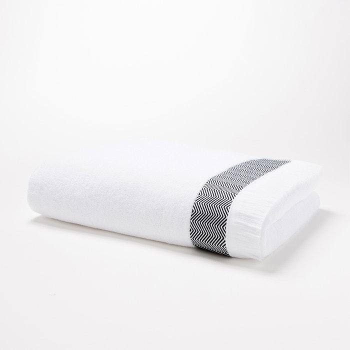 maxi drap de bain 500 g m fringes la redoute interieurs la redoute. Black Bedroom Furniture Sets. Home Design Ideas