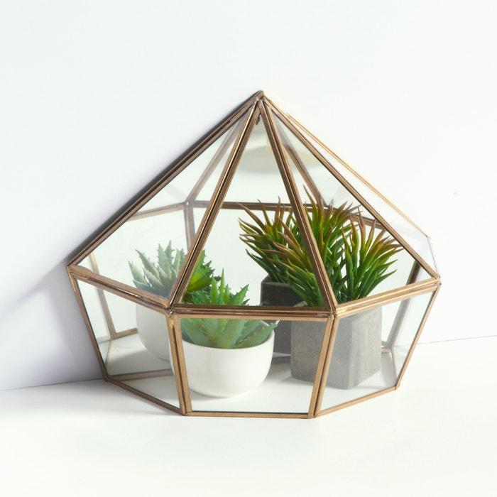 Image Uyova Freestanding Glass and Brass Terrarium La Redoute Interieurs
