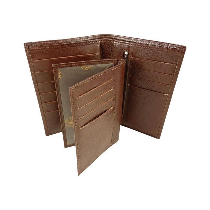 Portefeuille + porte carte amovible en cuir de vachette Elephant D'or   La Redoute Prendre Plaisir Sortie 100% Original qLZ4TEF4j