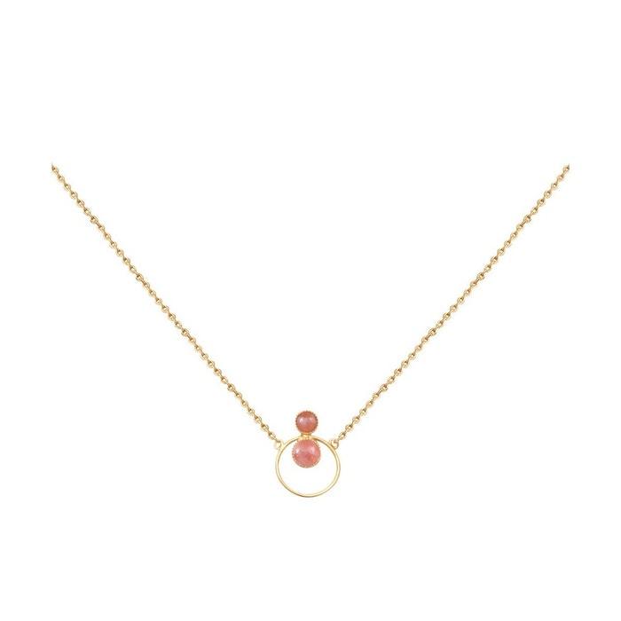 Collier doré rhochrosite sunset rose framboise Caroline Najman | La Redoute Vente Pas Cher Excellente 4i0eMeW4QP