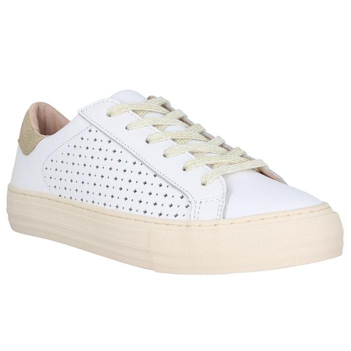 Baskets femme no name arcade sneaker pump perfos femme blanc blanc No Name