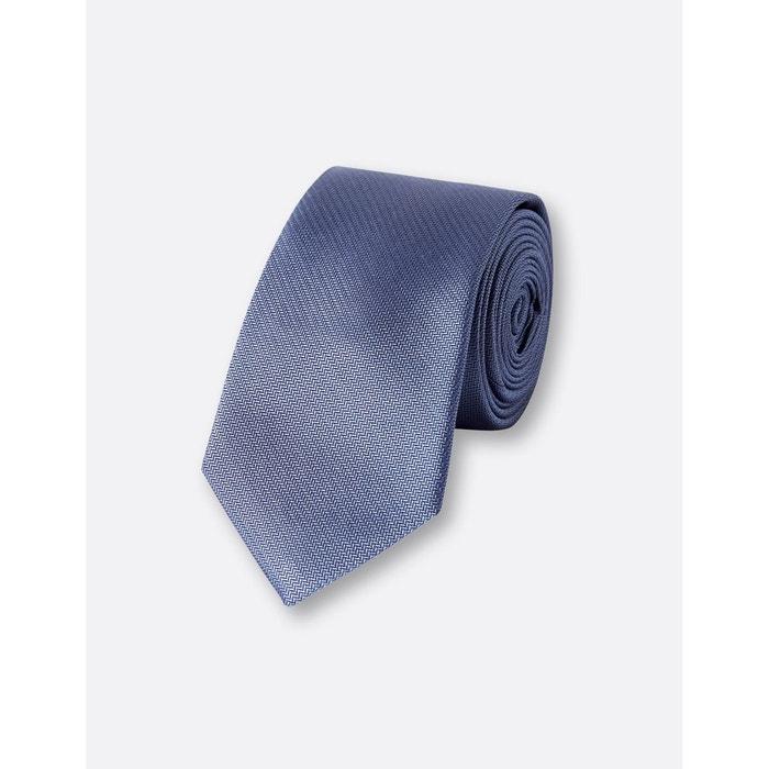 Cravate 6,5cm soie bleu moyen Brice | La Redoute