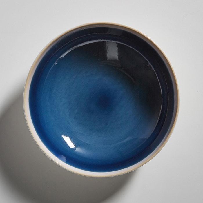 lot 4 assiettes creuses en gr s deonie bleu la redoute interieurs la redoute. Black Bedroom Furniture Sets. Home Design Ideas
