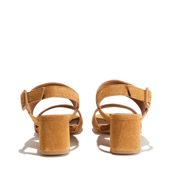Sandales cuir velours de chèvre belinda suede calf beige Anonymous Copenhagen