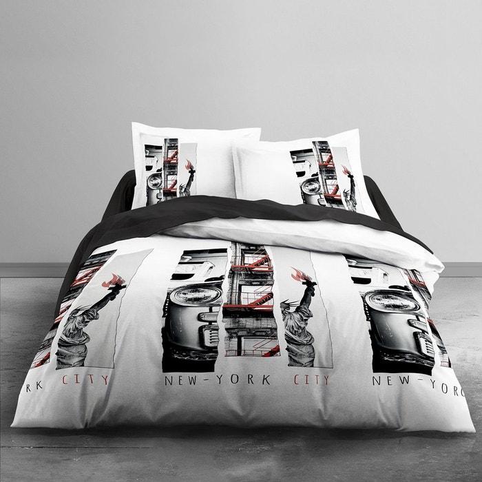 Parure de lit nyc light coton 57 fils blanc today la redoute - La redoute parure de lit ...