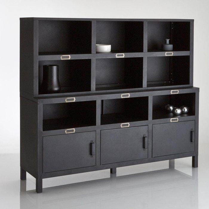 buffet 3 portes acier hiba la redoute interieurs la redoute. Black Bedroom Furniture Sets. Home Design Ideas