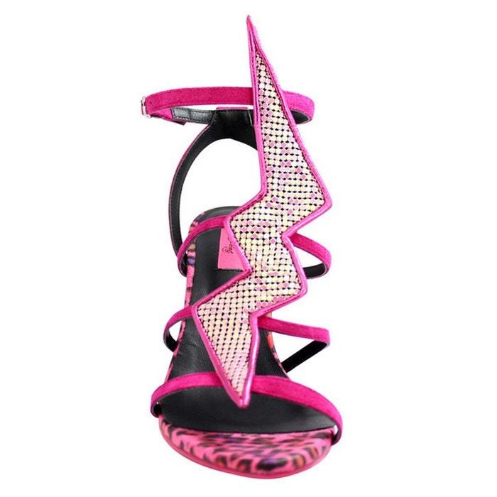 Chaussures femme en cuir eclair pink rose Pring Paris