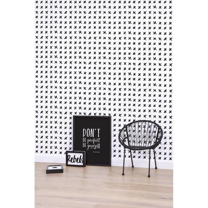 papier peint motif croix noir et blanc lilipinso la redoute. Black Bedroom Furniture Sets. Home Design Ideas