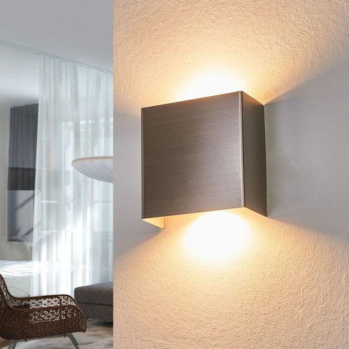 applique led en m tal enja nickel satin lampenwelt la. Black Bedroom Furniture Sets. Home Design Ideas