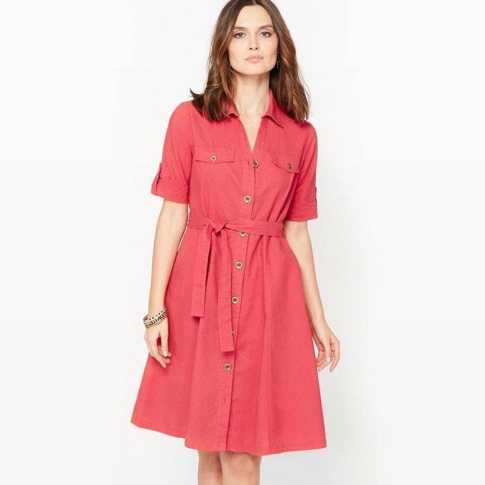 Image 55% Linen Flared Dress ANNE WEYBURN