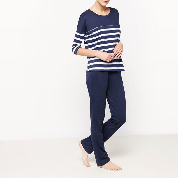 afbeelding 2-delige gestreepte pyjama La Redoute Collections