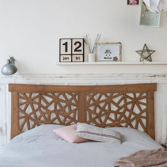 t te de lit en bois de teck 210 gentong teck brut tikamoon la redoute. Black Bedroom Furniture Sets. Home Design Ideas