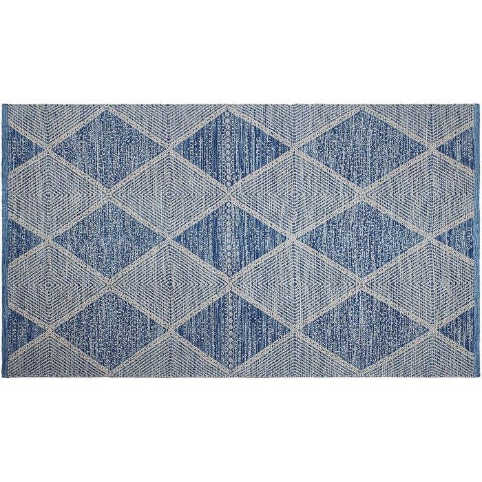 tapis int rieur ext rieur hampton bleu 150 x 90 cm bleu. Black Bedroom Furniture Sets. Home Design Ideas