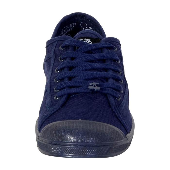 Basket basic 02 mono indigo bleu Le Temps Des Cerises