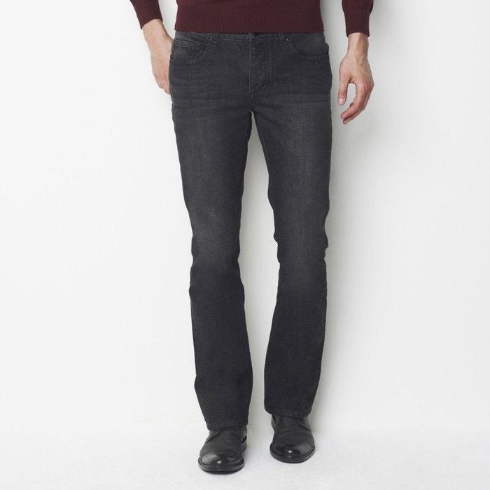 Jean bootcut long.34 noir usé La Redoute Collections   La Redoute af0416739085