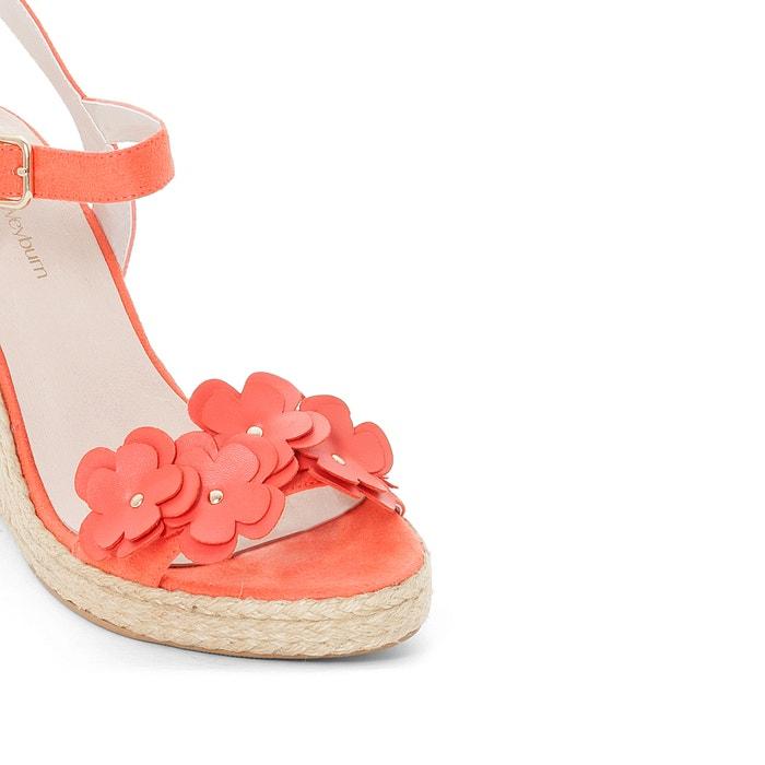 Sandales compensées cuir fantaisie fleurs - ANNE WEYBURN - CorailAnne Weyburn HqWXlG