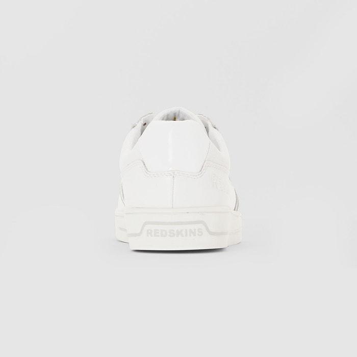 Baskets cuir feroc blanc Redskins