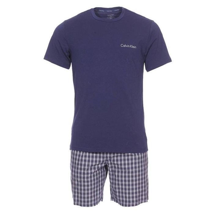8679938ce96 Pyjama court short set calvin klein bleu Calvin Klein Underwear